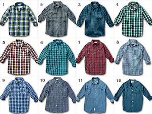 NWT-Hollister-Abercrombie-amp-Fitch-100-Cotton-Poplin-Plaid-Shirt-Denim-red-blue
