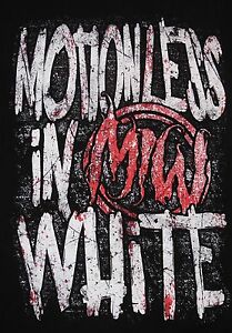 Image Is Loading Motionless In White Logo T Shirt Size S