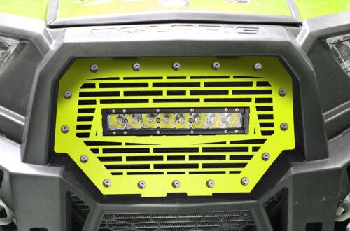 "Grille w// 10/"" LED Light Bar for Polaris RZR 1000XP /& 900S 2014-2018 Bricks Lime"