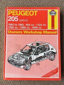 Haynes Owners Workshop Manual 932 Peugeot 205 Petrol 1983 To 1993 Ebay