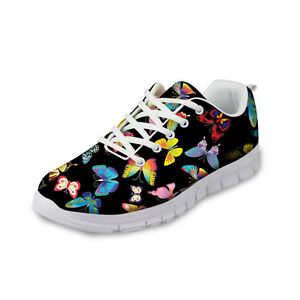 Women's Fashion Butterfly Sneakers Mesh Breathable Running Shoes Tennies Shoes