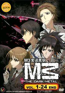 M3-la-TV-de-metal-oscuro-1-24-final-034-M3-que-Anime-Acero-Negro-DVD-envio-desde-EE-UU