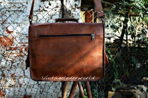 Bag Men/'s Leather New Laptop Business Messenger Shoulder Briefcase Handbag Brown