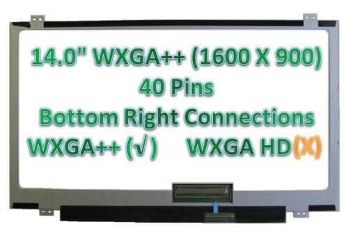 "AU OPTRONICS B140RTN03.2 LAPTOP LED LCD Screen 14.0/"" WXGA+ Bottom Right"