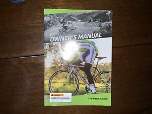 Cannondale Bikes Bicycles Owners Manual Complete January 2014 Book