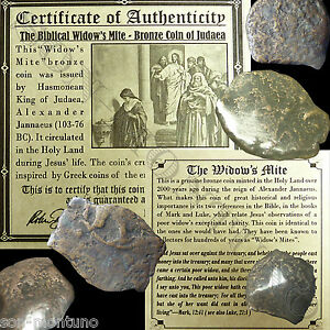 ONE-2000-Year-Old-034-Widow-039-s-Mite-034-103-76-BC-Antique-Roman-Coin-from-BEFORE-JESUS