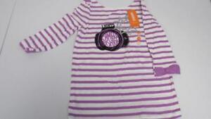 Gymboree-Posh-amp-Playful-Purple-White-Stripes-Shirt-Top-Lights-Camera-Fashion-New