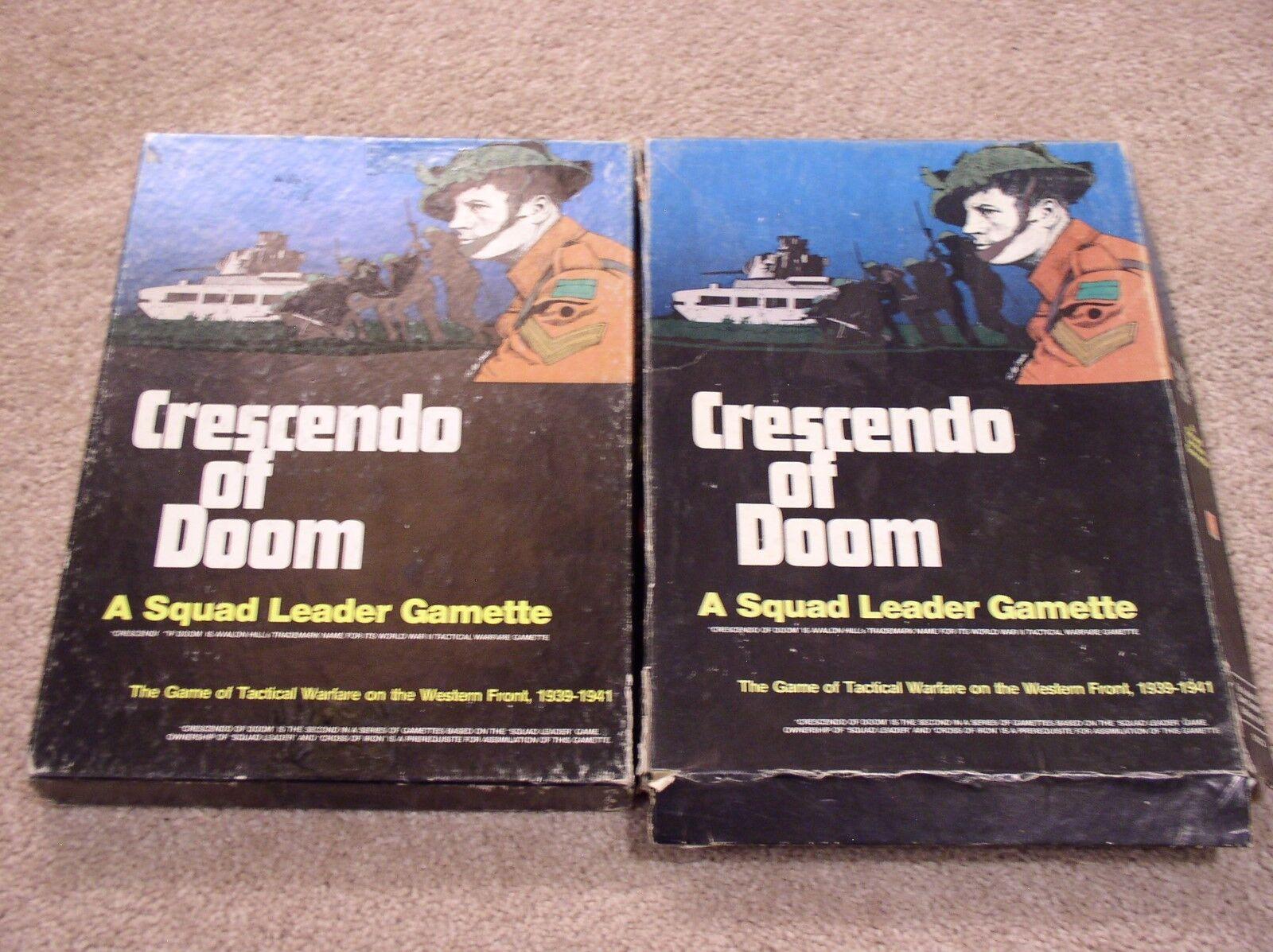 Avalon Hill Squad Leader giocotte  Crescendo  of Doom wargioco scatolaed set + extras  in cerca di agente di vendita