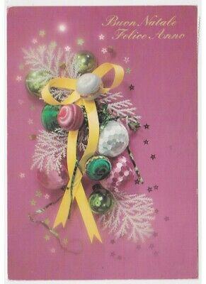 Immagini Natale Anni 70.Cartolina Augurale Vintage Decorazioni Palle Albero Di Natale Anni 70 80 Ebay