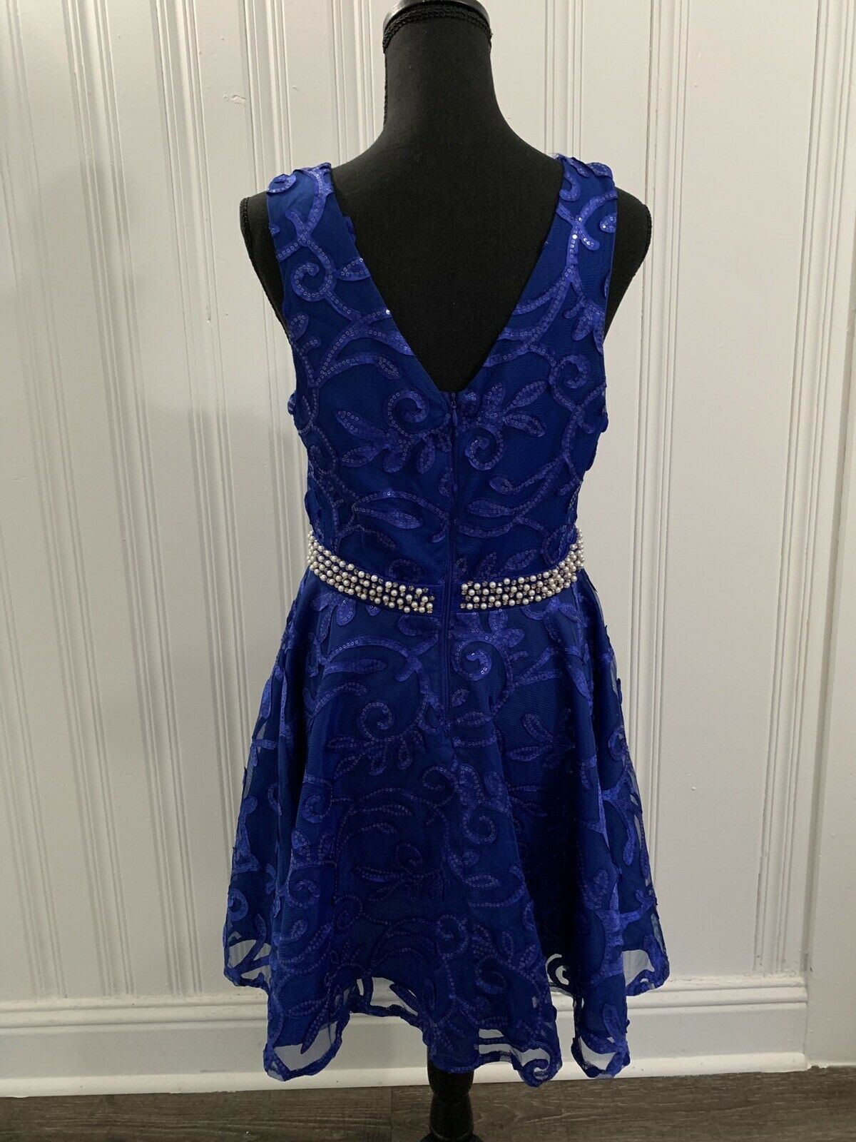 ROYAL BLUE Flower Girl Dress Birthday Pageant Homecoming Dance Wedding Party