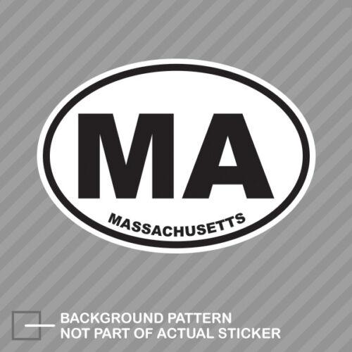 Massachusetts State Oval Sticker Decal Vinyl MA