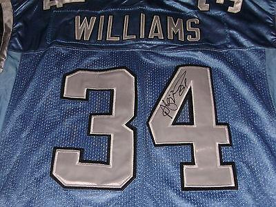 DeAngelo Williams Carolina Panthers Signed Blue XL Jersey Memphis Tigers | eBay