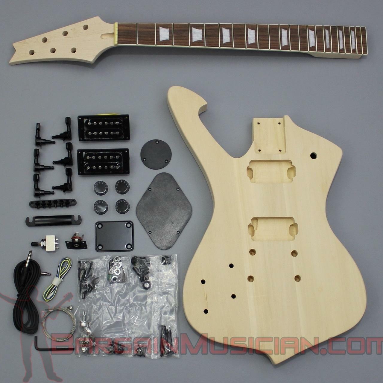 Bargain Musician - GK-021L - LEFT Hand DIY Unfinished Project Luthier Guitar Kit