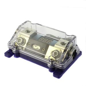 Gold Holder 1//0 0 gauge w// 45 Deg Angled Cover W// 300 Amp Digital ANL Fuse