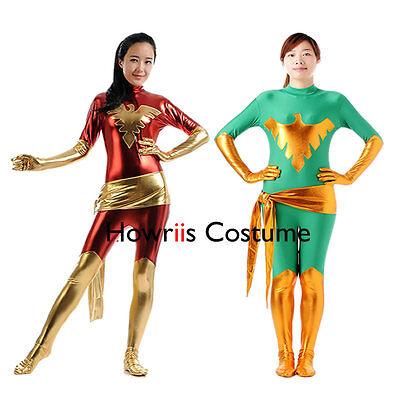 Free Shipping Unisex Spandex Superhero Phoenix Costume Bodysuit,X-men Cosplay