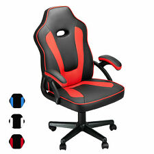 Leather Ergonomic Executive Office Computer Chair Swivel Recliner Gaming Chair