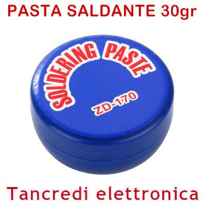 PASTA DISOSSIDANTE PER SALDATURA PASTA X SALDARE STAGNO SALDA SMD GR 30