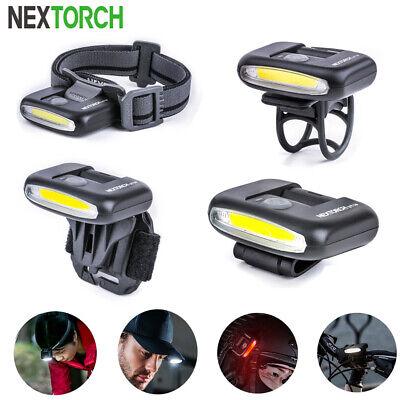 NEXTORCH Mni LED Light Rechargeable Headlamp Helmet Cap Bicycle Light Mount