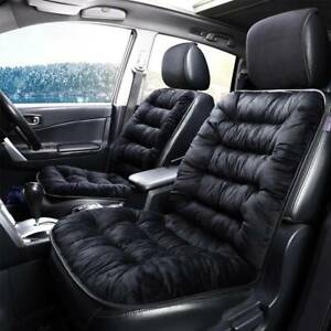Black-Front-Car-Plush-Seat-Cushion-Comfortable-Cover-Pad-Warmer-Mat-Universal