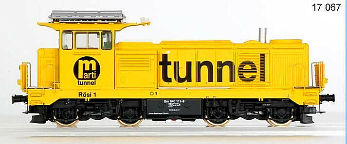 LS Models 17067 h0 DC Diesellok bm4 4 840 11-9 SBB ep5 Yellow tunnel label