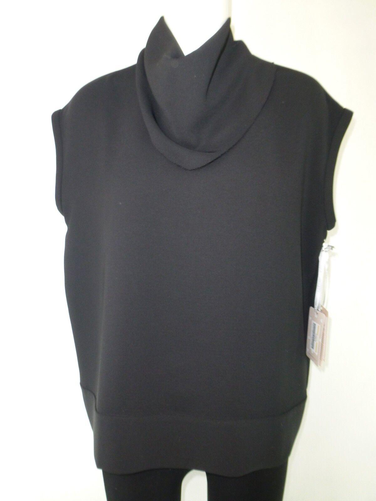 DTLM by REPEAT Damen Shirt 36 Schwarz Rollkragen Ärmellos Polyester NP 109 NEU