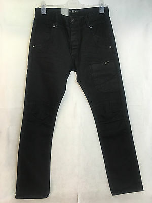 Size 32//32 Police 883 Men's Aivalli Black Tapered Stretch Jeans BNWT.