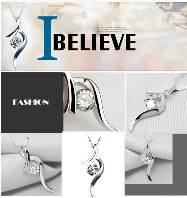 Natural Crystal Pendant Plated  Necklace The Korean Version Chic