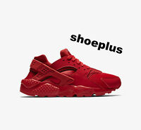 Nike Air Huarache 'triple Red' Boys Girls & Womens Genuine All Sizes Unisex