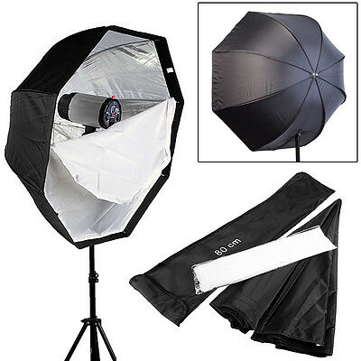 Pro Professional 80cm Octagon Umbrella Softbox soft box Reflector Speedlite