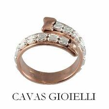 Anello donna contrarè Argento 925‰ oro rosa e catena inserita fascetta