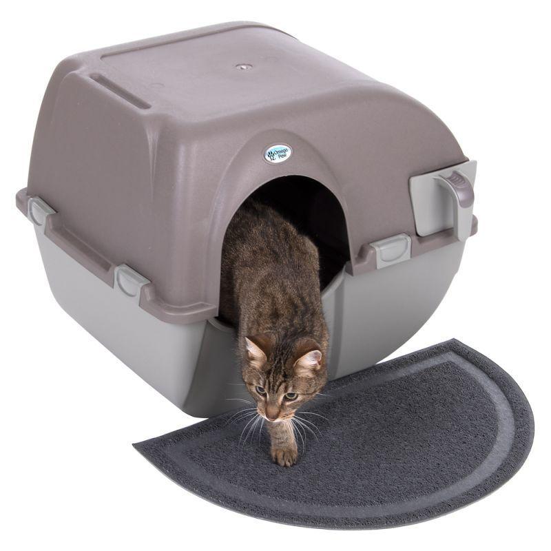 Roll e pulire autopulente LETTIERA VASSOIO BOX igienico Pet Cat Toilet Formazione