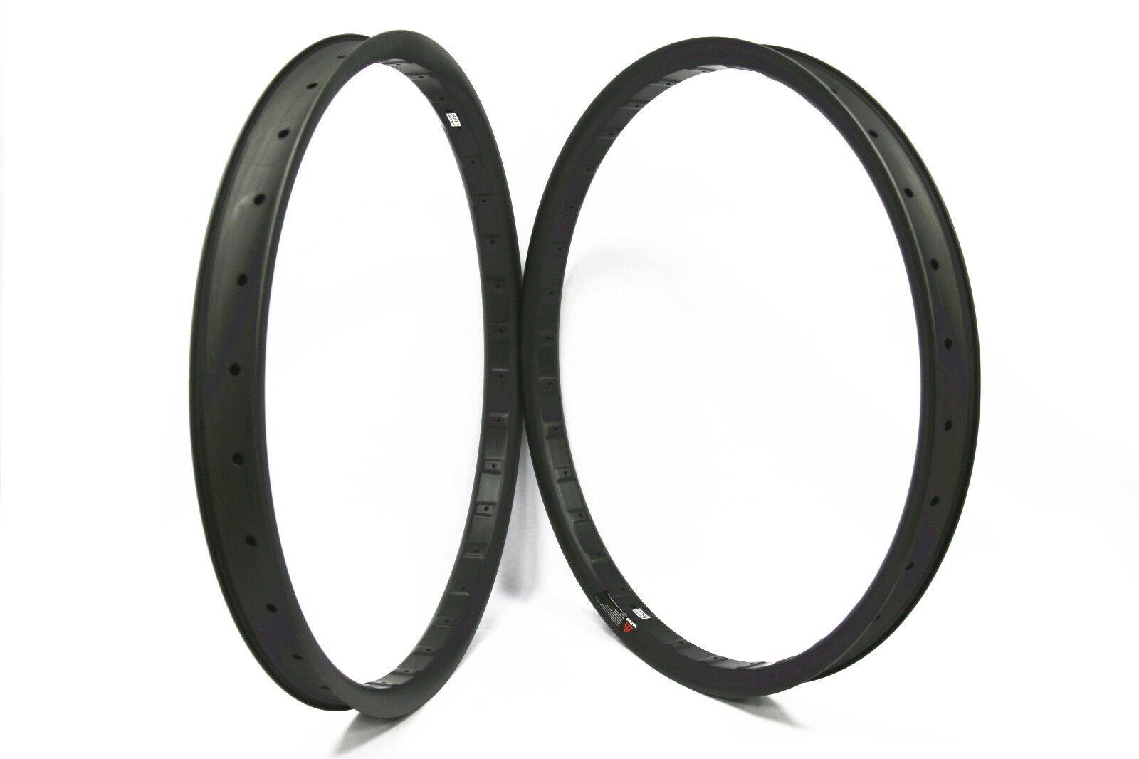 27.5er+ plus  42mm Width Carbon MTB Bicycle Rim for AM CX DH Tubeless Compatible  comfortable