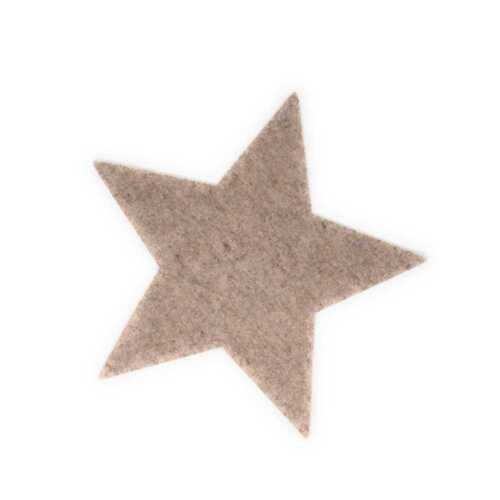 Étoile en feutre platzset Crème Ø 40 cm Hossner