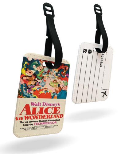 Alice Wonderland Disney Rétro Fantaisie Tasse De Thé Cadeau Passport Cover /& Luggage Tag