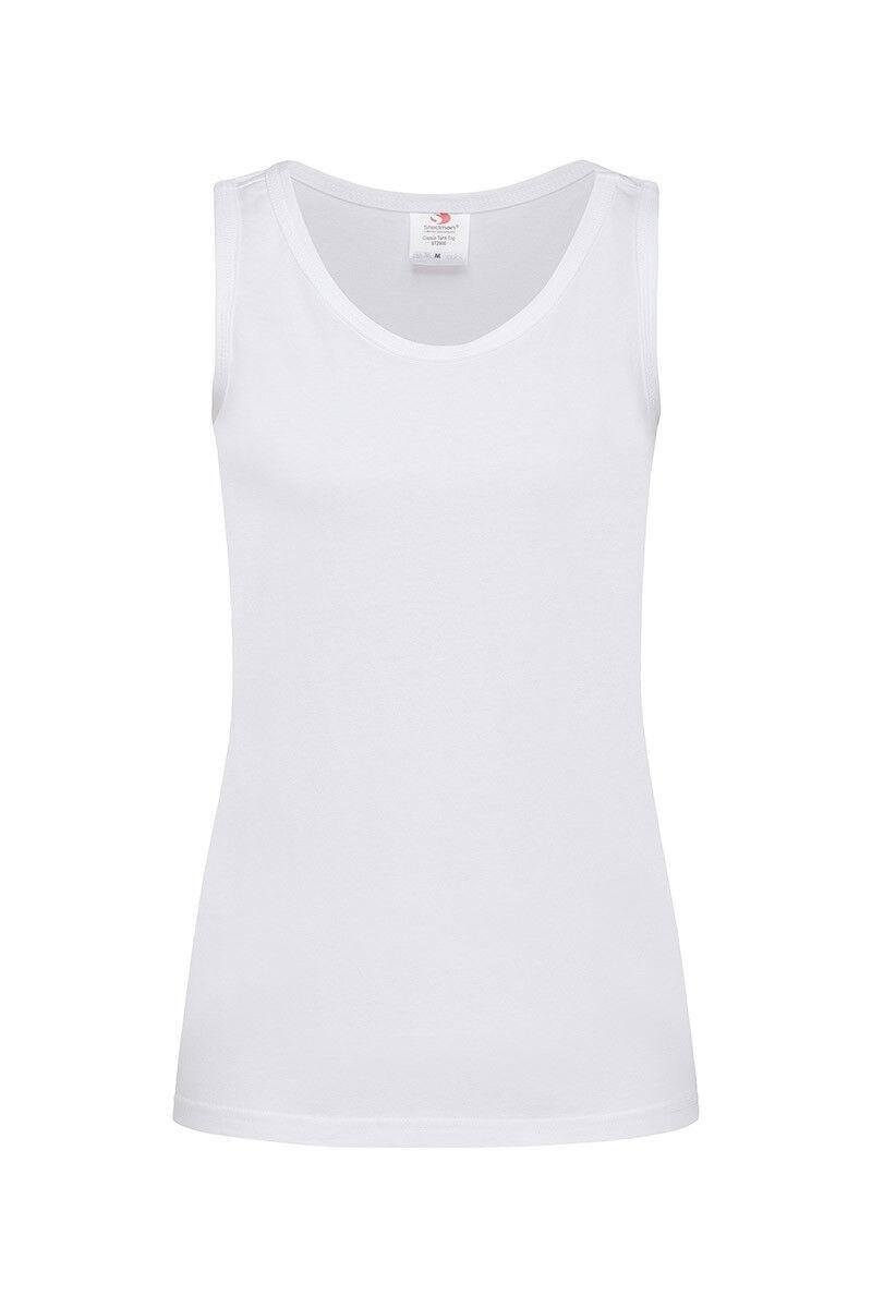 damen Ladies Weiß Sleeveless Tee T-Shirt Tshirt Vest Tank Top Singlet Camisole