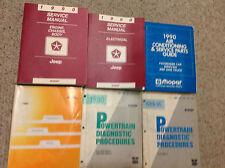 1990 Jeep WRANGLER CHEROKEE COMANCHE Service Shop Repair Manual SET W RECALLS +x