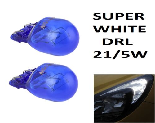 2x W21//5 T20 580 *ERROR FREE DRL Sidelight 7443 Super White HID Xenon Look Bulbs