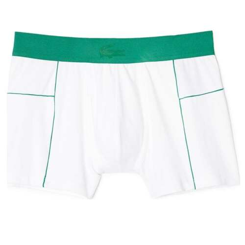 Boxer Brief Lacoste Men/'s Motion Micro Mesh Stretch Short Trunk Green White