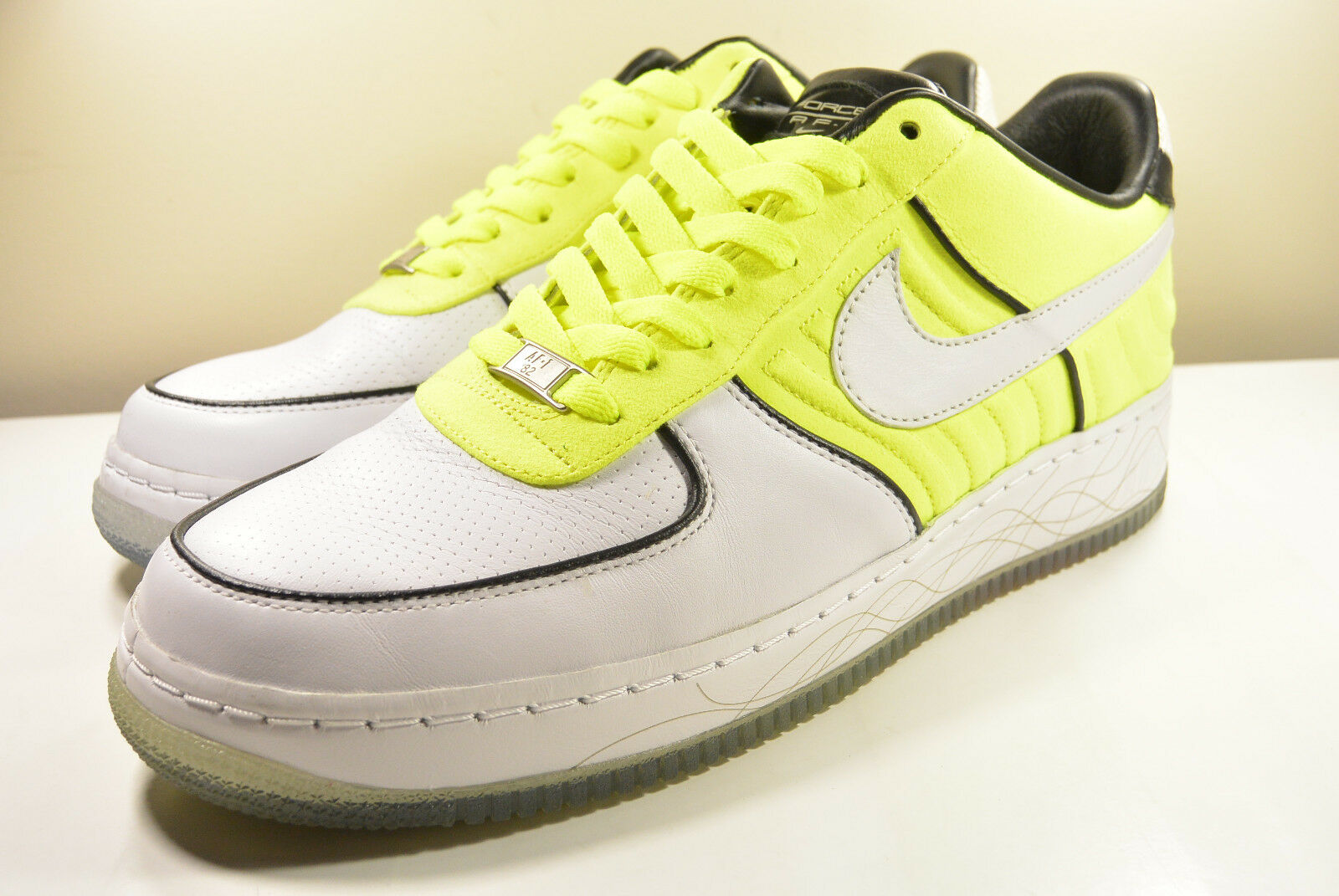 2007 NIKE AIR FORCE 1 TALARI TENNIS SUPREME ATMOS I/O NEON YELLOW 10 ATMOS SUPREME CAMO 90 MAX 193391