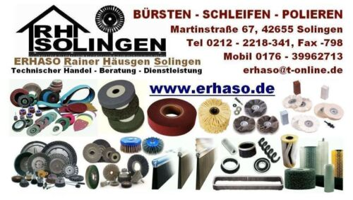 3-er SET Schleifbürste 100 x15 Schaft 6mm SiC Korn 80+320+600 grob//medium//fein