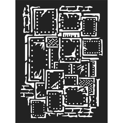 ksat03 Thick Stencil 15x20cm Steampunk