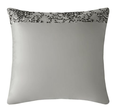 Kylie Minogue Bedding ANGELINA Truffle Cushions or Throw Silver Duvet Cover