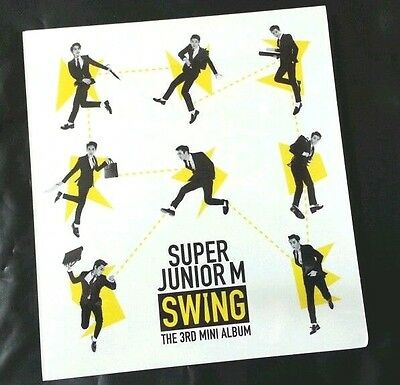 SUPER JUNIOR M 3rd Mini Album SWING Vol.3::CD+Poster+Gift Photo SUJU M NEW SJ
