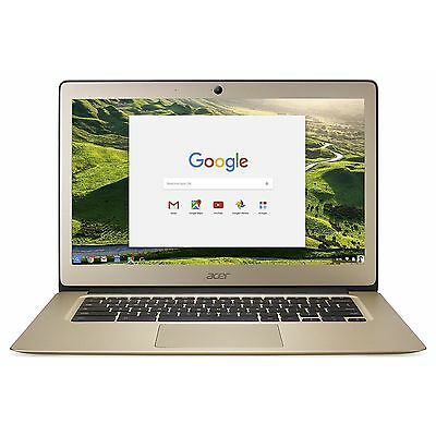 Acer Chromebook 14 Inch 2.24GHz Celeron 4GB 32GB Chrome OS Laptop - Gold.