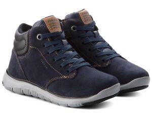 Détails sur Geox Respira Xunday J843NA Chaussures de Bébé Garçon Homme Pôles Basket en Daim