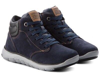 GEOX RESPIRA XUNDAY J843NA scarpe bambino ragazzo uomo polacchi sneaker camoscio | eBay