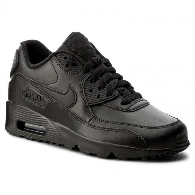 Nike Air Max 90 Ltr GS Big Kids 833412 001 Black Running Athletic Shoes