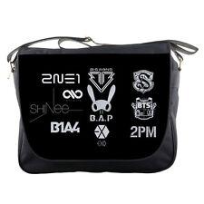 "Kpop Shinee BAP Big Bang Logo TV School Textbook Notebook 14"" Messenger Bag"