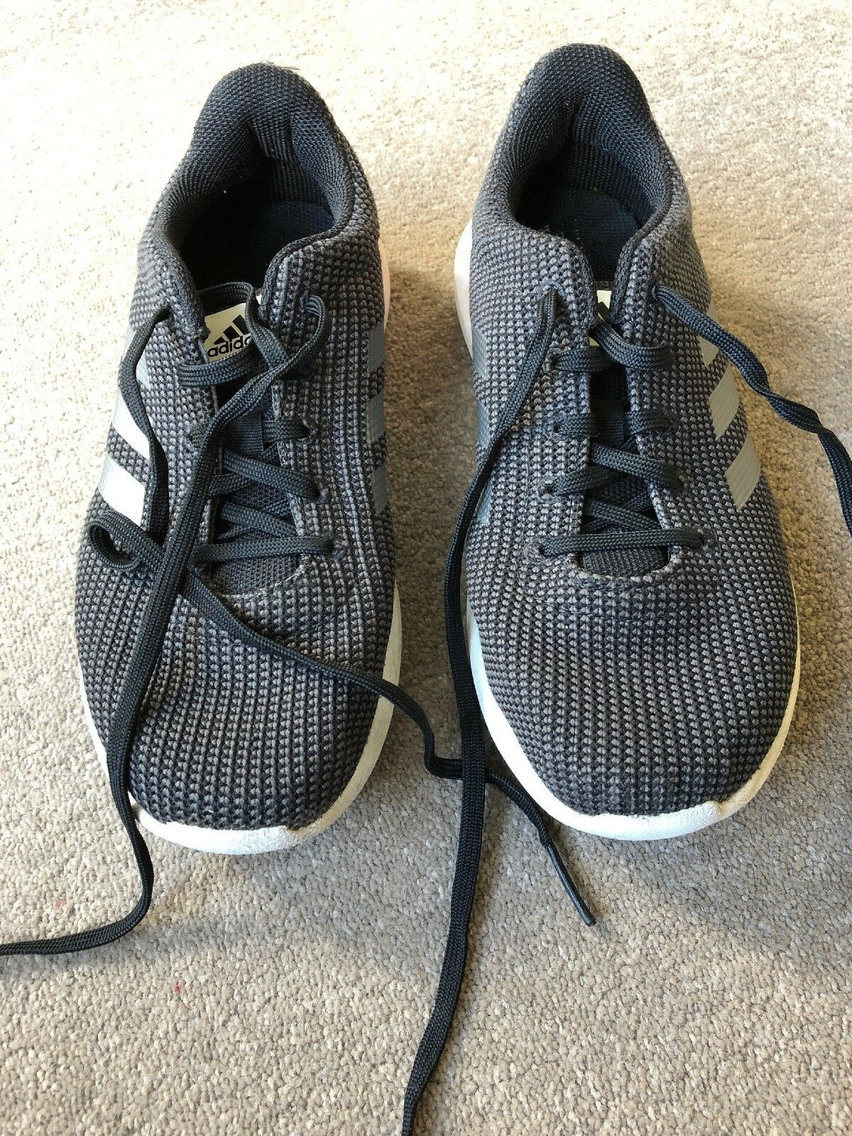 5dade832f Adidas Adidas Adidas Black Grey Cloudfoam Ortholite Trainers - Size e5de9a