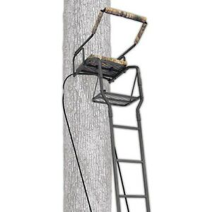 Ladder Tree Stand Ameristep 16 Solid Steel Seat Hunting